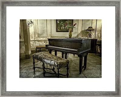 Framed Print featuring the photograph Piano At Josie's House by Joan Carroll
