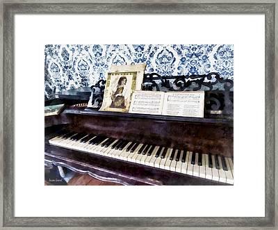Piano Closeup Framed Print by Susan Savad