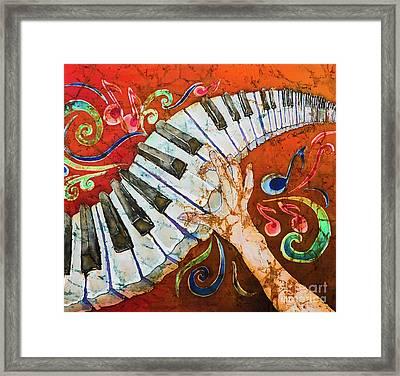 Piano Crazy Fingers - Special 3  Framed Print by Sue Duda