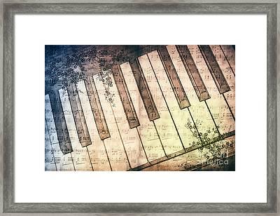Piano Days Framed Print by Jutta Maria Pusl