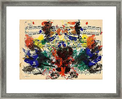 Piano Exercises 1 Framed Print