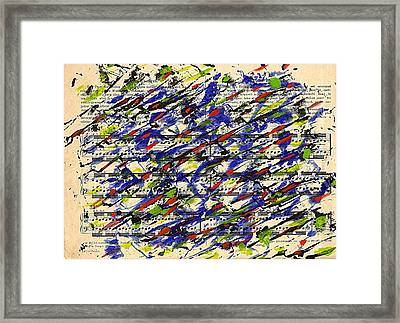 Piano Exercises 2 Framed Print
