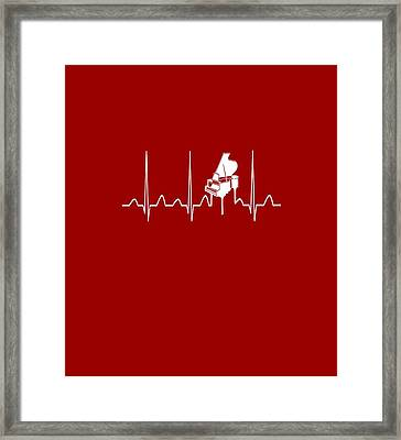 Piano Heartbeat Framed Print by Sophia
