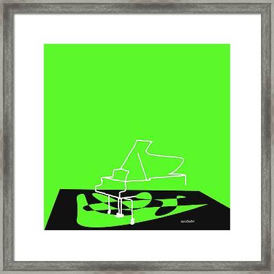 Piano In Green Framed Print by David Bridburg