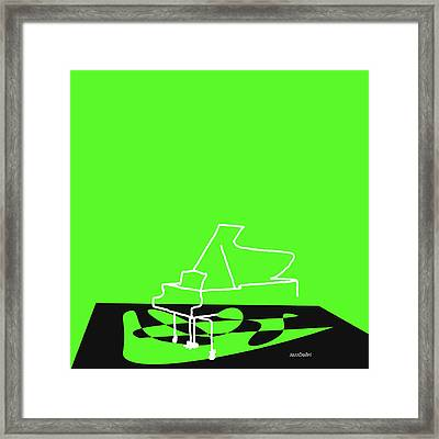 Piano In Green Framed Print