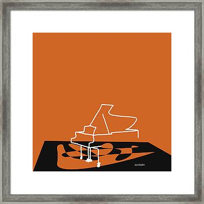 Piano In Orange Framed Print
