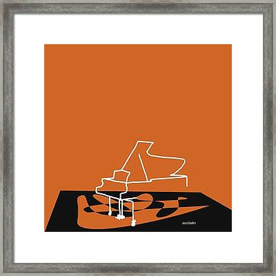 Piano In Orange Prints Available At Framed Print