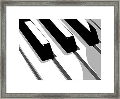 Piano Keyboard Framed Print by Michael Tompsett