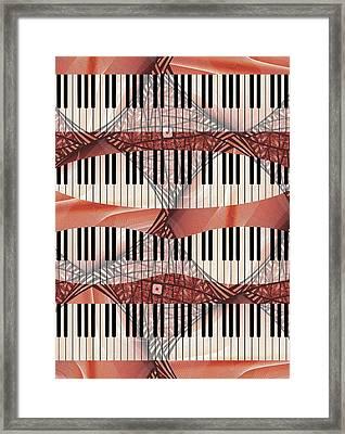 Piano - Keyboard - Musical Instruments Framed Print by Anastasiya Malakhova