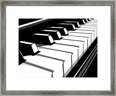 Piano Keyboard No2 Framed Print