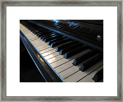 Piano Keys Framed Print by Anthony Rapp