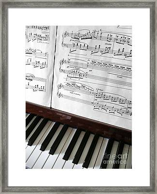 Piano Keys Framed Print by Carlos Caetano