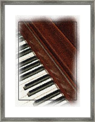 Piano Keys Framed Print by Carolyn Marshall