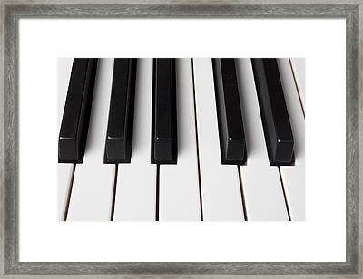 Piano Keys Close Up Framed Print by Garry Gay