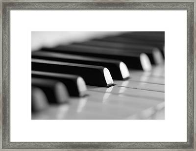 Piano Keys Framed Print by Falko Follert