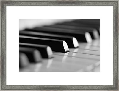 Piano Keys Framed Print by Falko Follert