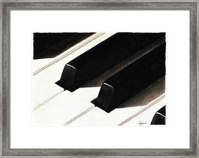 Piano Keys Framed Print by Jeanne Delage