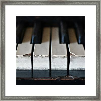 Piano Keys Framed Print by Julie Rideout