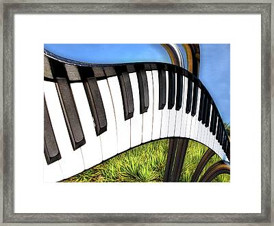 Piano Land Framed Print