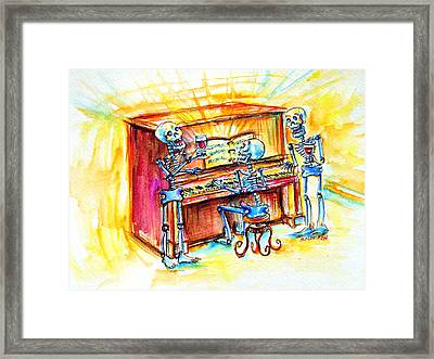 Piano Man Framed Print by Heather Calderon