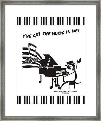 Piano Man Framed Print by Maria Watt