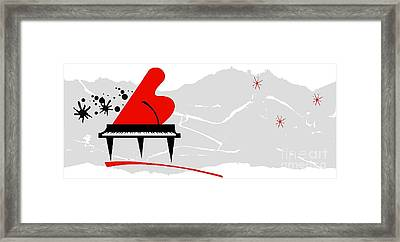 Piano Framed Print by Mimo Krouzian