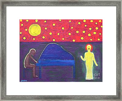 Piano Player And Singer Framed Print by Patrick J Murphy