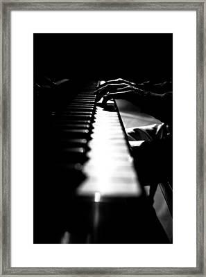 Piano Player Framed Print by Scott Sawyer