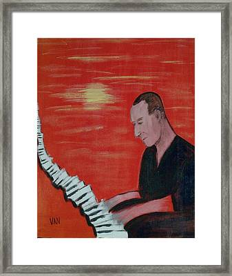 Piano Player Framed Print by Van Winslow