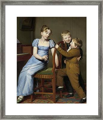 Piano Practice Interrupted Framed Print