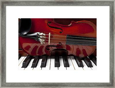 Piano Reflections Framed Print by Garry Gay