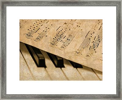Piano Sheet Music Framed Print by Design Turnpike