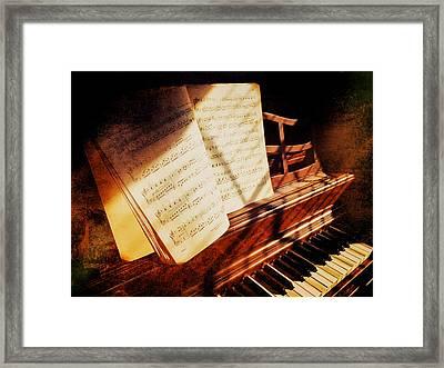 Piano Sheet Music Framed Print