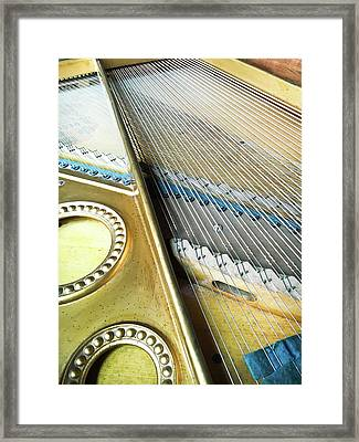 Piano Strings Framed Print by Tom Gowanlock