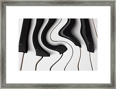 Piano Surrealism  Framed Print by Garry Gay