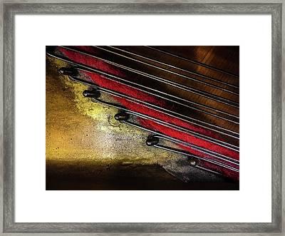 Piano Wire II Framed Print by Jae Mishra