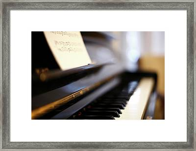 Piano With Blur Framed Print by Photo by Giuseppe Amato