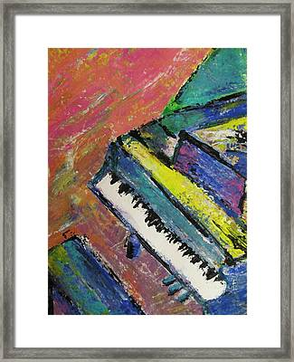 Piano With Yellow Framed Print