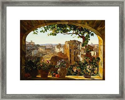 Piazza Barberini Rome Framed Print
