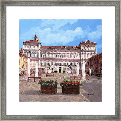 piazza Castello Framed Print