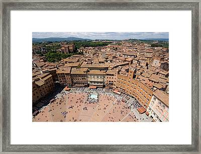 Piazza Del Camp In The Center Framed Print by Joel Sartore