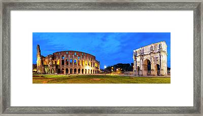 Framed Print featuring the photograph Piazza Del Colosseo by Fabrizio Troiani