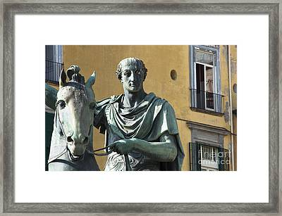 Piazza Del Plebiscito Framed Print by Andrew  Michael