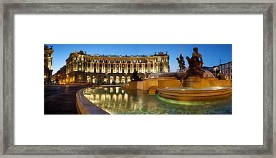 Piazza Della Repubblica Framed Print
