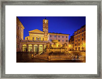 Piazza Di Santa Maria Framed Print