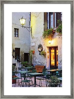 Piazza Di Spagna At Dusk Framed Print