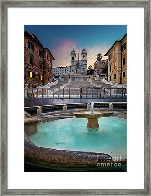 Piazza Di Spagna Framed Print by Inge Johnsson