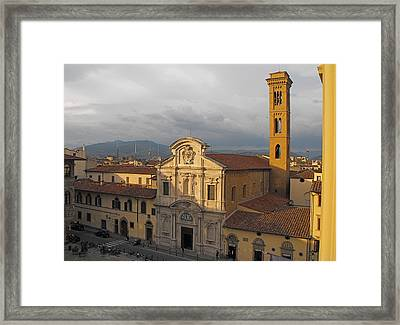 Piazza D'ognissanti Framed Print by Gerald Hiam