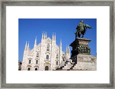 Piazza Duomo In Milan Framed Print