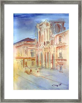 Piazza Duomo Framed Print